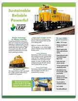 LEAF GenSet locomotive factsheet PDF